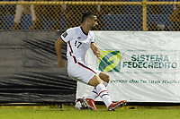 Sebastian Lletget #17 of the United States moves with the ball