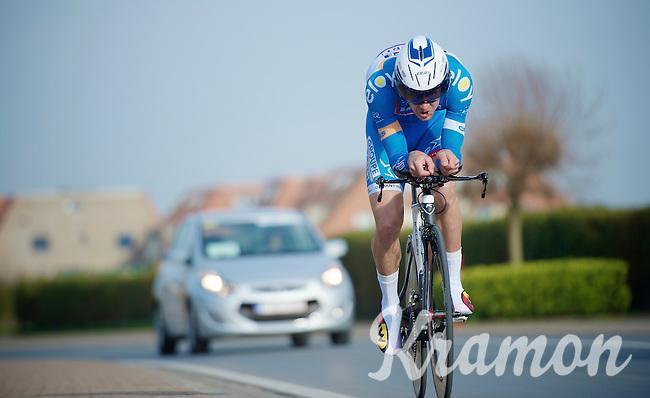 Laurens De Vreese (BEL)<br /> <br /> 3 Days of West-Flanders 2014<br /> day 1: TT/prologue Middelkerke 7,0 km