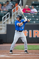 Taylor Walls (21) of the Hudson Valley Renegades at bat against the Aberdeen IronBirds at Leidos Field at Ripken Stadium on July 27, 2017 in Aberdeen, Maryland.  The Renegades defeated the IronBirds 2-0 in game one of a double-header.  (Brian Westerholt/Four Seam Images)