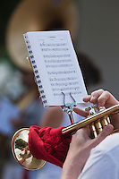 Europe/France/Aquitaine/64/Pyrénées-Atlantiques/Pays-Basque/Bayonne: Fêtes de Bayonne Trompettiste d'une fanfare