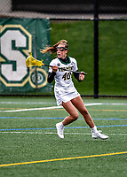 17 April 2021: University of Vermont Catamount Midfielder Jen Williams, a Junior from St. Louis, MO, in action against the UMBC Retrievers at Virtue Field in Burlington, Vermont. The Lady Cats fell to the Retrievers 11-8 in the America East Women's Lacrosse matchup. Mandatory Credit: Ed Wolfstein Photo *** RAW (NEF) Image File Available ***