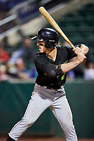 JJ Muno (2) of the Great Falls Voyagers bats against the Ogden Raptors at Lindquist Field on September 14, 2017 in Ogden, Utah. The Raptors defeated the Voyagers 7-4 in Game One of the Pioneer League Championship. (Stephen Smith/Four Seam Images)