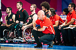 Matteo Feriani, Lima 2019 - Wheelchair Basketball // Basketball en fauteuil roulant.<br /> Canada takes on the USA in the gold medal game in men's wheelchair basketball // Le Canada affronte les États-Unis dans le match pour la médaille d'or en basketball en fauteuil roulant masculin. 31/08/2019.