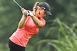 23 June 2011; USA Amanda Blumenherst tees off on the 4th tee during the LPGA Championship at Locust Hill Country Club in Pittsford, NY, USA; .Mandatory Credit: Nick Serrata/Eclipse Sportswire