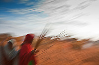 Somali refugee women on the road near Dadaab, Kenya