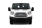 Car photography straight front view of a 2019 Ford Transit Wagon 150 XLT Wagon Low Roof Sliding Pass. 130 5 Door Passenger Van