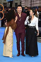 """Sandra Oh, Simu Liu and Michelle Yeoh<br /> arriving for the """"Shang-Chi And The Legend Of The Ten Rings"""" premiere at Curzon Mayfair, London<br /> <br /> ©Ash Knotek  D3570  26/08/2021"""