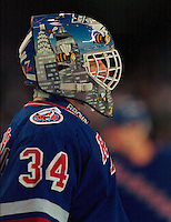 John Vanbiesbrouk New York Rangers. Photo F. Scott Grant
