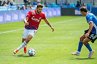 SAN JOSE, CA - APRIL 24: Ryan Hollingshead #12 of FC Dallas controls the ball during a game between FC Dallas and San Jose Earthquakes at PayPal Park on April 24, 2021 in San Jose, California.