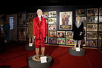 Posters of old films stage clothes during the opening of the actor Alberto Sordi''s house museum in Rome. In occasion of the centenary of his  birth, the villa in the heart of Rome, where he lived from 1959 to death, was opened to the public, becoming a house-museum. The house still contains thousand of objects belonged to the actor. In the garden two more tensile structures were added, containing stage clothes, posters of his films, photos and much more. <br /> Rome (Italy), September 15th 2020<br /> Photo Samantha Zucchi Insidefoto