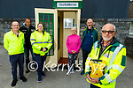Members of the Lixnaw Development Association standing at the new defibrillator (designed like a phone box) in village on Monday evening. Front right: Roger Craddock (First Responder). Back l to r: PJ McAuliffe, Vincent O'Connell, Jane Lomasney, Maria Conway and Dick McElligott (Chairman Lixnaw Development Association)