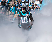 CHARLOTTE, NC - NOVEMBER 3: Curtis Samuel #10 of the Carolina Panthers takes the field prior to the game during a game between Tennessee Titans and Carolina Panthers at Bank of America Stadium on November 3, 2019 in Charlotte, North Carolina.
