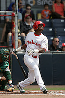 July 11 2009: Jose Crisotomo of the Vancouver Canadians during game against the Boise Hawks at Nat Bailey Stadium in Vancouver,BC..Photo by Larry Goren/Four Seam Images