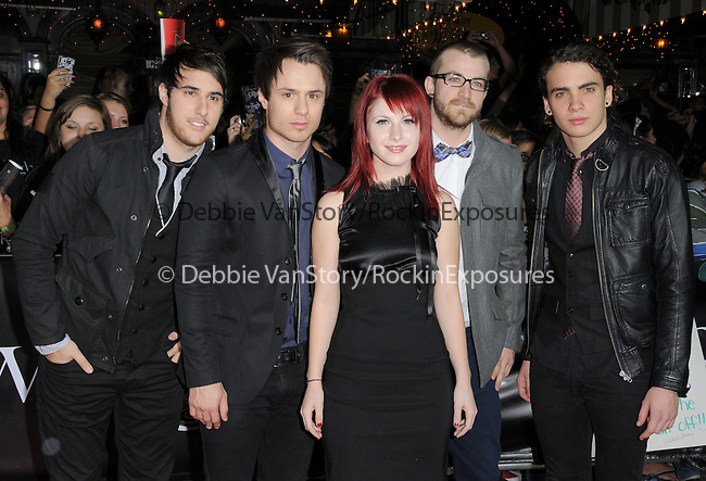 """Paramore at Summit Entertainment's highly anticipated Premiere of """"Twilight"""" held at The Mann's Village Theatre in Westwood, California on November 17,2008                                                                     Copyright 2008 Debbie VanStory/RockinExposures"""