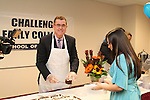 Dr. Terry Grier at Challenge Early College for Blue Ribbon cake on January 10, 2012.