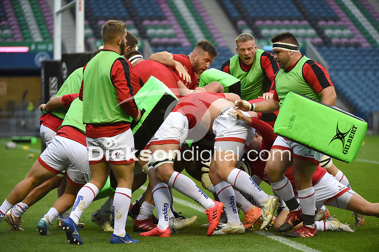 Saturday 5th September 2020 | PRO14 Semi-Final<br /> <br /> Ulster warming up during the Guinness PRO14 Semi-Final between Edinburgh and Ulster at the BT Murrayfield Stadium Edinburgh, Scotland. Photo by David Gibson / Dicksondigital