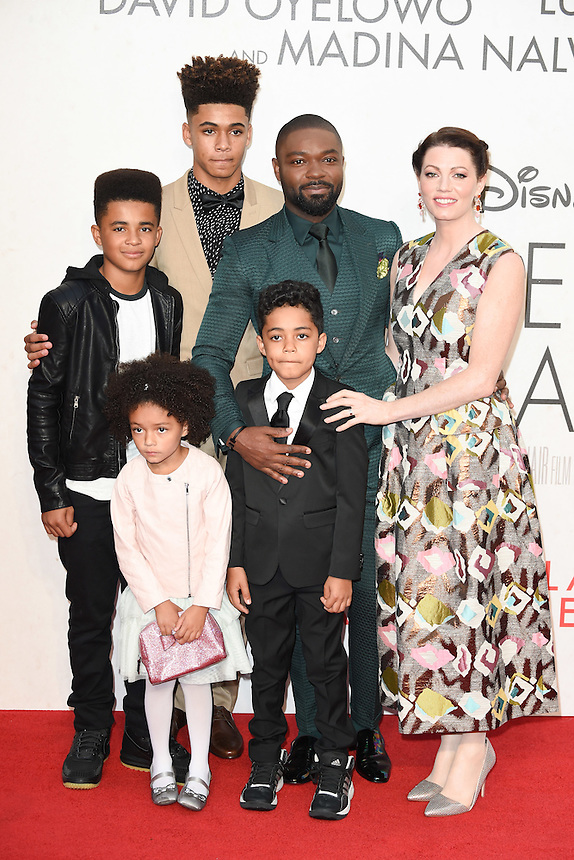 """David Oyelowo, wife Jessica and family<br /> at the London Film Festival 2016 premiere of """"Queen of Katwe"""" at the Odeon Leicester Square, London.<br /> <br /> <br /> ©Ash Knotek  D3168  09/10/2016"""