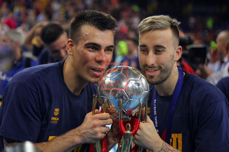 League LNFS 2018/2019.<br /> Play Off. Game: 5.<br /> FC Barcelona Lassa vs El Pozo Murcia: 3-2.<br /> Sergio Lozano & Rivillos.