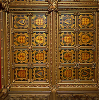 Detail of the painted ceiling of the Prince's Chamber