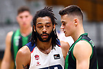 Liga ENDESA 2019/2020. Game: 07.<br /> Club Joventut Badalona vs TD Systems Baskonia: 83-82.<br /> Pierria Henry & Nemed Dimitrijevic.