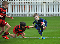 Action from the Wellington under-7 rippa rugby match between Poneke Thunder and Johnsonville Panthers at the Basin Reserve in Wellington, New Zealand on Saturday, 29 May 2021. Photo: Dave Lintott / lintottphoto.co.nz