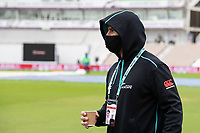 Colin de Granhomme, New Zealand well wrapped up against the conditions during India vs New Zealand, ICC World Test Championship Final Cricket at The Hampshire Bowl on 18th June 2021