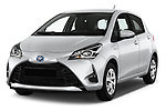 2017 Toyota Yaris Comfort 5 Door Hatchback angular front stock photos of front three quarter view