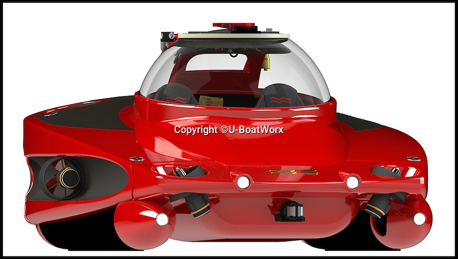 BNPS.co.uk (01202 558833)<br /> Pic: U-BoatWorx/BNPS<br /> <br /> The ultimate accessory for your super yacht...A James Bond style two seater submarine runabout for undersea adventures - Although with a manufacturer called U-Boat Worx it might be more suitable for a Bond villan.<br /> <br /> The Dutch company have come up with the £1million design that can cruise at 3 kts for 6 hours at depths of 100 metres and can recharge in only 4 hours.