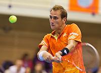 07-04-13, Tennis, Rumania, Brasov, Daviscup, Rumania-Netherlands, Thiemo de Bakker
