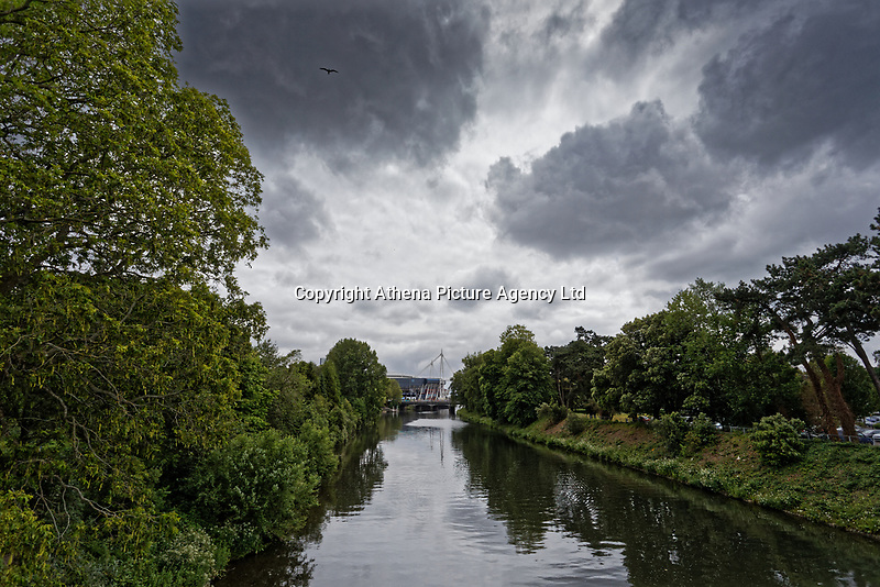 River Taff in Bute Park, Cardiff, Wales, UK. Wednesday 12 June 2019