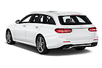 Car pictures of rear three quarter view of a 2020 Mercedes Benz E-Class  E450 5 Door Wagon angular rear