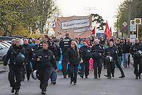 Ca. 250 Menschen demonstrierten am Montag den 20. April 2015 in Berlin Marzahn-Hellersdorf gegen einen Aufmarsch von Neonazis. Die anschliessende Kundgebung der Neonazigegner wurde nach Augenzeugen von ca. 15 Neonazis angegriffen. Die Polizei schritt dabei nicht gegen die Neonazis ein.<br /> 20.4.2015, Berlin<br /> Copyright: Christian-Ditsch.de<br /> [Inhaltsveraendernde Manipulation des Fotos nur nach ausdruecklicher Genehmigung des Fotografen. Vereinbarungen ueber Abtretung von Persoenlichkeitsrechten/Model Release der abgebildeten Person/Personen liegen nicht vor. NO MODEL RELEASE! Nur fuer Redaktionelle Zwecke. Don't publish without copyright Christian-Ditsch.de, Veroeffentlichung nur mit Fotografennennung, sowie gegen Honorar, MwSt. und Beleg. Konto: I N G - D i B a, IBAN DE58500105175400192269, BIC INGDDEFFXXX, Kontakt: post@christian-ditsch.de<br /> Bei der Bearbeitung der Dateiinformationen darf die Urheberkennzeichnung in den EXIF- und  IPTC-Daten nicht entfernt werden, diese sind in digitalen Medien nach §95c UrhG rechtlich geschuetzt. Der Urhebervermerk wird gemaess §13 UrhG verlangt.]