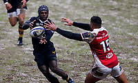 Photo: Richard Lane/Richard Lane Photography. Wasps v Ulster Rugby.  European Rugby Champions Cup. 21/01/2018. Wasps' Christian Wade passes.