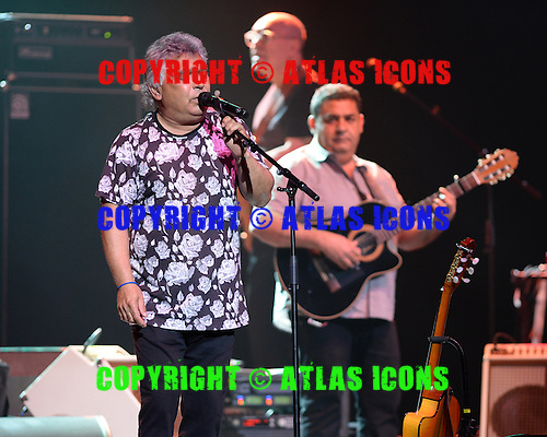 HOLLYWOOD FL - JUNE 13: Nicolas Reyes and Tonino Baliardo of The Gipsy Kings Perform at Hard Rock Live held at the Seminole Hard Rock Hotel & Casino on June 13, 2015 in Hollywood, Florida. (Photo by Larry Marano © 2015
