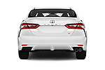 Straight rear view of a 2018 Toyota Camry SE Auto 4 Door Sedan stock images