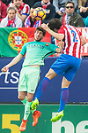 Sergi Roberto Carnicer (l) of FC Barcelona in action during their La Liga match between Atletico de Madrid and FC Barcelona at the Santiago Bernabeu Stadium on 26 February 2017 in Madrid, Spain. Photo by Diego Gonzalez Souto / Power Sport Images