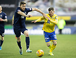 Kilmarnock v St Johnstone…..04.12.19   Rugby Park   SPFL<br />Matty Kennedy battles with Stephen O'Donnell<br />Picture by Graeme Hart.<br />Copyright Perthshire Picture Agency<br />Tel: 01738 623350  Mobile: 07990 594431