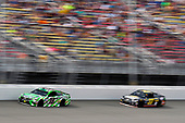 Monster Energy NASCAR Cup Series<br /> Pure Michigan 400<br /> Michigan International Speedway, Brooklyn, MI USA<br /> Sunday 13 August 2017<br /> Kyle Busch, Joe Gibbs Racing, Interstate Batteries Toyota Camry and Chris Buescher, JTG Daugherty Racing, Bush's Grillin' Beans Chevrolet SS<br /> World Copyright: Nigel Kinrade<br /> LAT Images