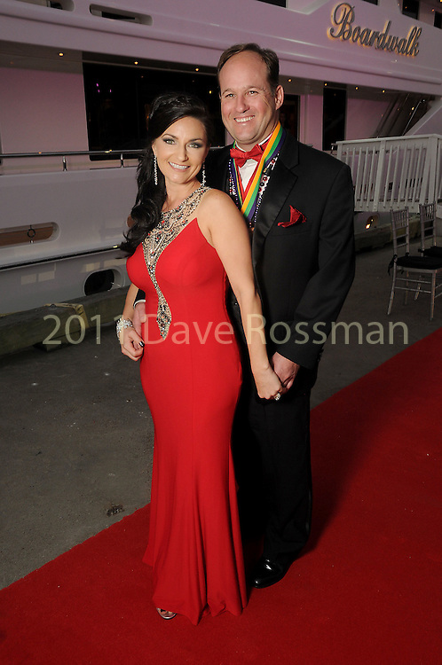 """Michelle and Bryan Ritchey at the San Luis Salute """"Space Pirates"""" VIP reception Friday February 24,2017. (Dave Rossman Photo)"""