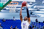 Eric Javarin Ferguson #3 of HKPA dunks the ball  during the Hong Kong Basketball League game between HKPA and Tycoon at Southorn Stadium on June 22, 2018 in Hong Kong. Photo by Yu Chun Christopher Wong / Power Sport Images