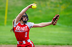 WOLCOTT, CT 051021JS16—Wolcott's Sofia Gugliotti (2) delivers a pitch during their NVL softball game with Torrington Monday at Wolcott High School. Jim Shannon Republican American