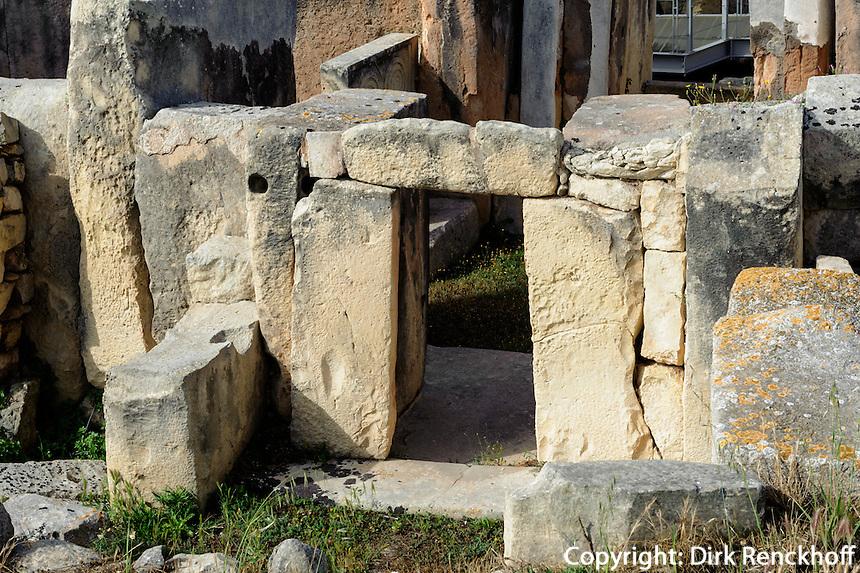 megalithischer Tempel Hal Tarxien 2.500 v.Chr., Malta, Europa, Unesco-Weltkulturerbe