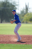 Jacobi Padilla (49), from Clayton, California, while playing for the Dodgers during the Under Armour Baseball Factory Recruiting Classic at Red Mountain Baseball Complex on December 29, 2017 in Mesa, Arizona. (Zachary Lucy/Four Seam Images)