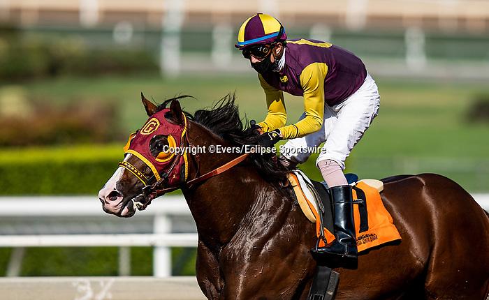 September 3, 2020:  Big Runnuer with Juan Hernandez aboard wins the Eddie D Stakes at Santa Anita Park, in Arcadia, California on September 25, 2020.  Evers/Eclipse Sportswire/CSM