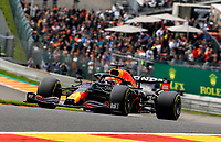 27th August 2021; Spa Francorchamps, Stavelot, Belgium: FIA F1 Grand Prix of Belgium, free practise:   33 Max Verstappen NED, Red Bull Racing