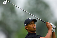Tiger Woods watches his approach during the 2007 Wachovia Championships at Quail Hollow Country Club in Charlotte, NC.