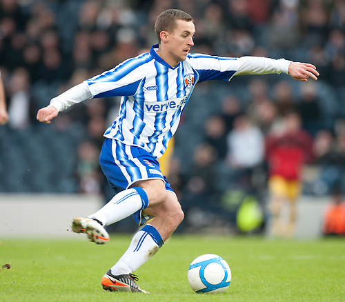 GLASGOW, SCOTLAND - JANUARY 28:  Kilmarnock's James Fowler during the Scottish Communities Cup Semi Final match between Ayr United and Kilmarnock at Hampden Park on January 28, 2012 in Glasgow, United Kingdom. (Photo by Rob Casey/Getty Images).