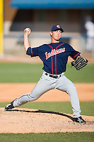 Starting pitcher Josh Tomlin (24) of the Kinston Indians in action versus the Winston-Salem Warthogs at Ernie Shore Field in Winston-Salem, NC, Saturday, May 17, 2008.