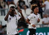 22nd September 2021; Picco Stadium, La Spezia, Italy; Serie A football, Spezia FC versus Juventus  FC: Emmanuel Gyasi of Spezia celebrates after scoring for 1 - 1 in 33rd minute