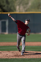 Arizona Diamondbacks starting pitcher Matt Tabor (31) delivers a pitch to the plate during a Spring Training game against Meiji University at Salt River Fields at Talking Stick on March 12, 2018 in Scottsdale, Arizona. (Zachary Lucy/Four Seam Images)